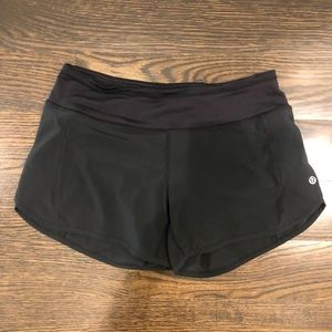 Lululemon Speed short. Black. Size 4